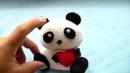 Tutorial OSO PANDITA ENAMORADO. (◕ ‿‿ ◕) how to make a panda plush in love