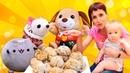 Игры для детей Маша Капуки и ЧиЧиЛав готовят Творожные шарики для Карла Видео шоу Мамина школа