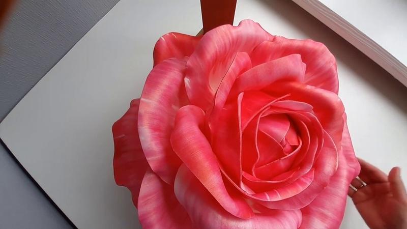 Роза Светильник из Изолона Тонирование