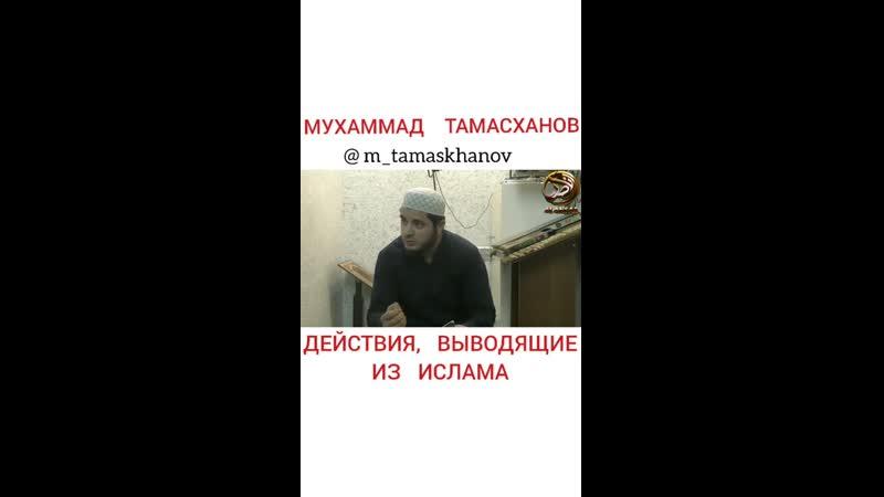 Мухаммад Тамасханов - Действия, выводящие из ислама