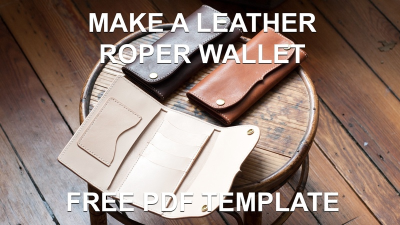 Make A Leather Roper Style Long Wallet - (Free PDF Template)