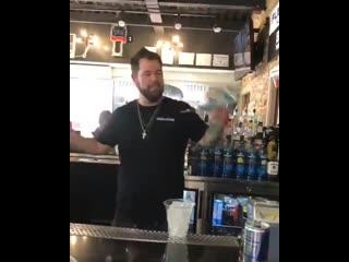 Flairing bartender