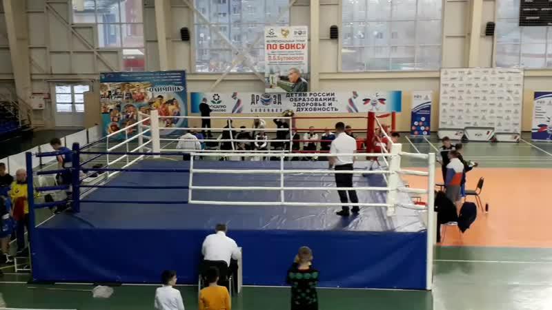 Турнир по боксу г Балаково 1 4 красный угол ринга вес 44 5кг