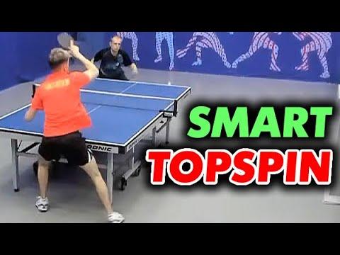 Умная атака ТОПСПИНОМ справа и слева Матвеев Денис, тактический стиль игры топспином