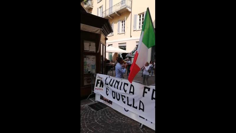 Forza Nuova contro il Gay Pride di Novara