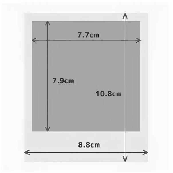 Размер фотографии полароид в см стандарт этих строк
