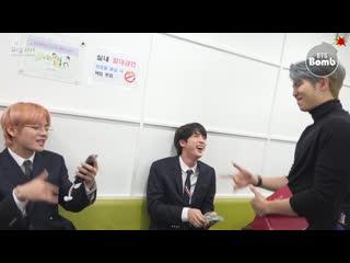 [bangtan bomb] rm, jin & v having fun singing songs