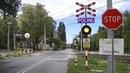 Spoorwegovergang Pruszków (PL) Railroad crossing Przejazd kolejowy