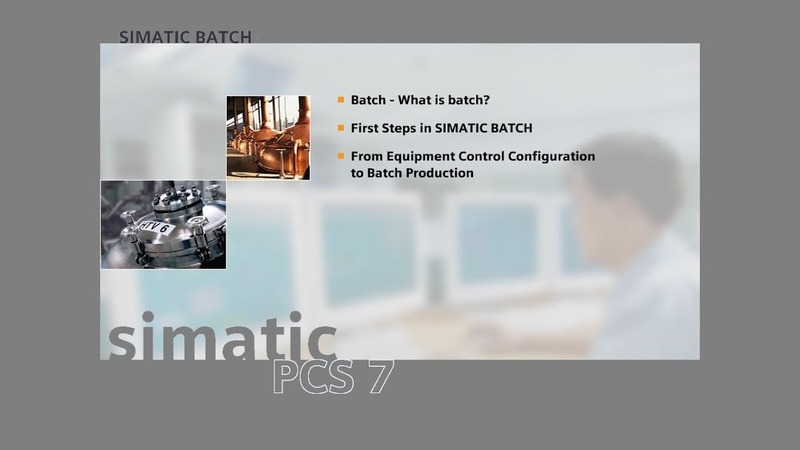 10 - SIMATIC BATCH - Continuous and BATCH Characteristics