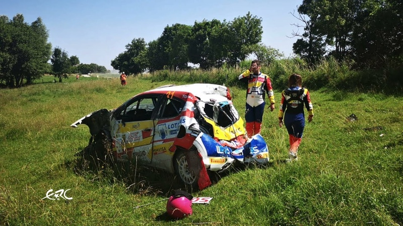 PZM 76th Rally Poland Llarena Crash on SS12