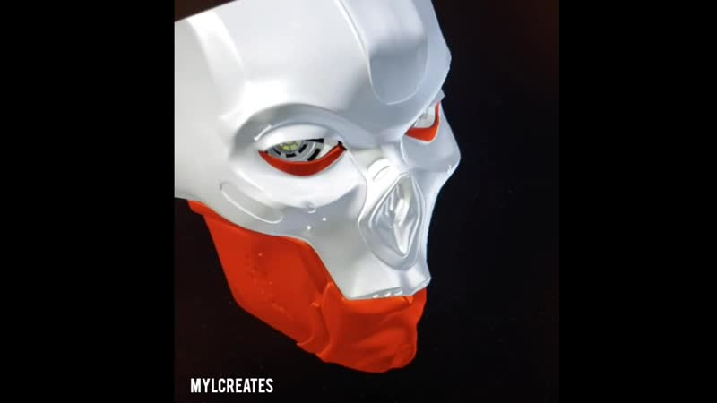 3D print Revenant cosplay mask with tracking eyes hinge jaw continued My pupils will be looking out of the gaps in the