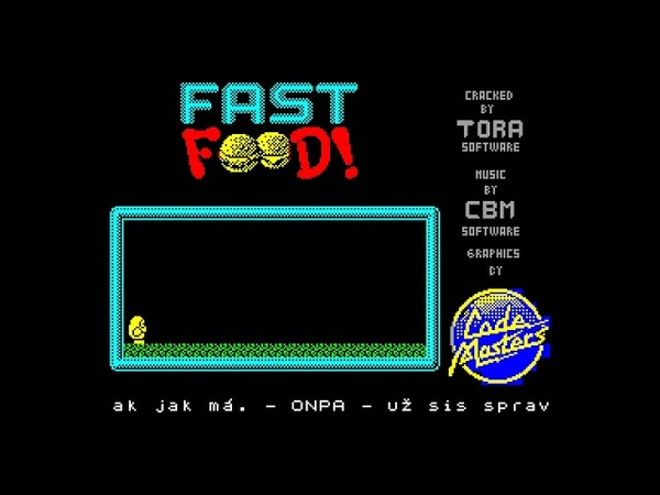 Fast Food Demo Tora Czech Republic 1993 zx spectrum AY Music Demo
