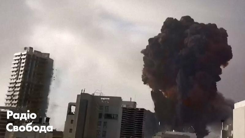 У Бейруті стався великий вибух в районі порту