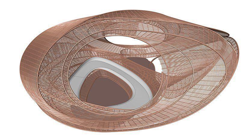 UNStudio создает тканый «эллипсоидный» павильон предназначен для отдыха.