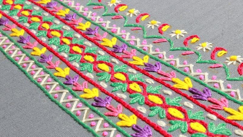 Polish folk hand embroidery Jadwiga Turska,Hand costume embroidery,लोक कढ़ाई,গ্রামিন হাতের কাজ
