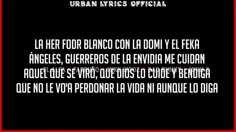 Lo que yo diga - El Alfa El Jefe ft Bad Bunny, Farruko, Jon Z, Miky Woodz (Letra) (Video Lyric) UL