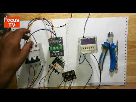 How to control and power wring of automatic DOL starter with DH48s-s timer