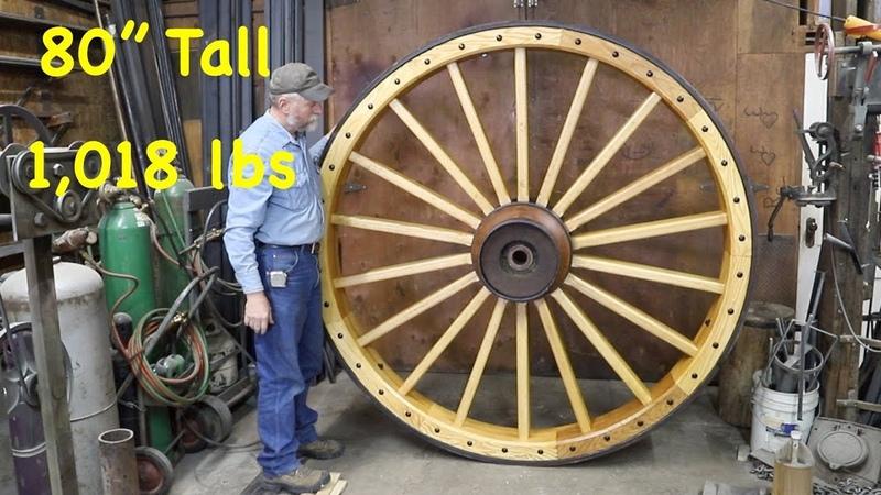 Building 1 018 lb Wagon Wheel For a Chandelier Engels Coach Shop