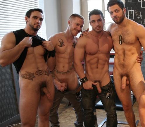Group Of Pornstars Play With Average Joe