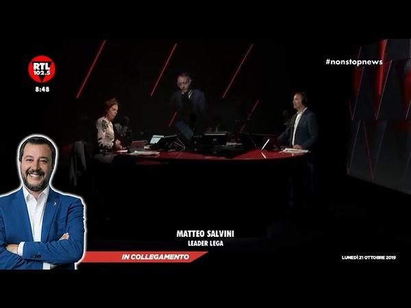 MATTEO SALVINI OSPITE A RTL 102 5 21 10 2019