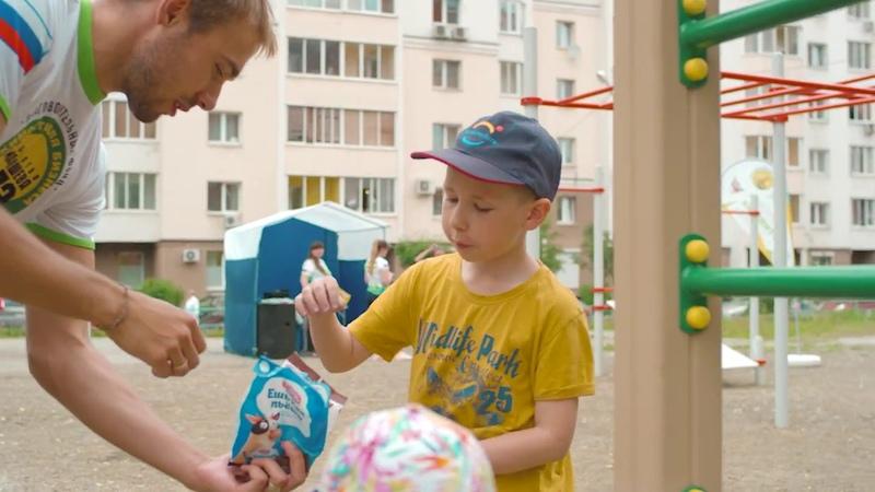 Антон Шипулин открывает детскую спортивную площадку