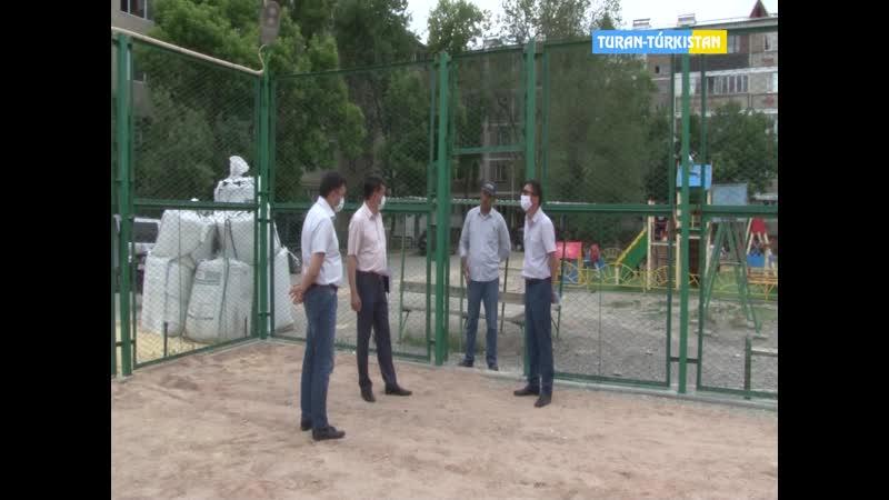 Тұран Түркістан Ақпарат Кентау қаласындағы аллеялар құрылысы