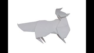 Оригами лиса из бумаги пошагово