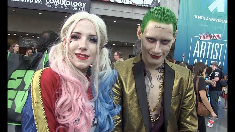 JOKER and HARLEY QUINN Have Terrible Love Advice NYCC Cosplay