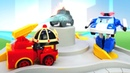 Robocar Poli and Cars in Brooms Town Rescue Team Car Animation