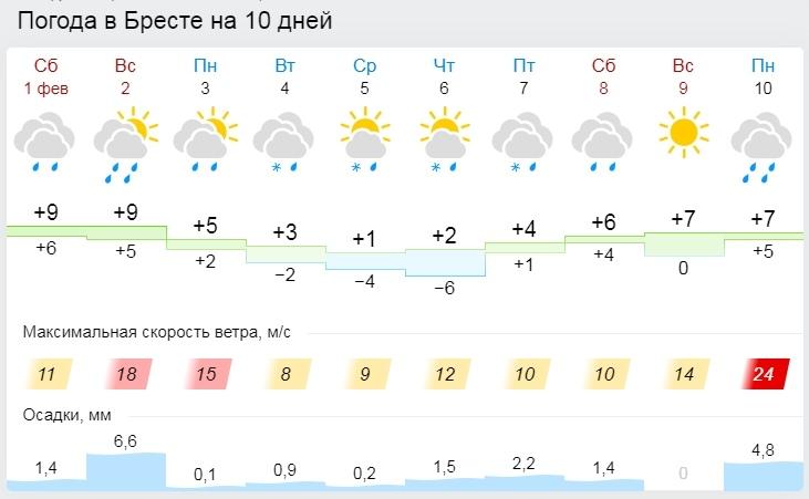 Усиление ветра и осадки ожидаются в Беларуси 2 февраля