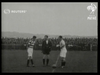 NORTHERN IRELAND:  SPORTS: BALLYMENA v Celtic at Ballymena football club (1928)