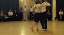 Susana Ferrantes Luis Rojas bailan tango