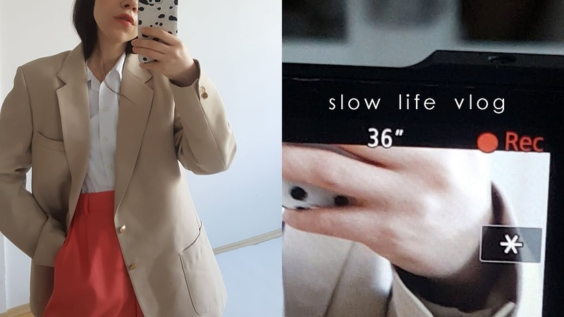 Slow life in quarantine vlog Simplicity aesthetics Last photoshoot for vintage shop Cooking