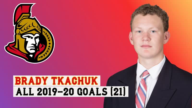 Brady Tkachuk (7) All 21 Goals of the 2019-20 NHL Season