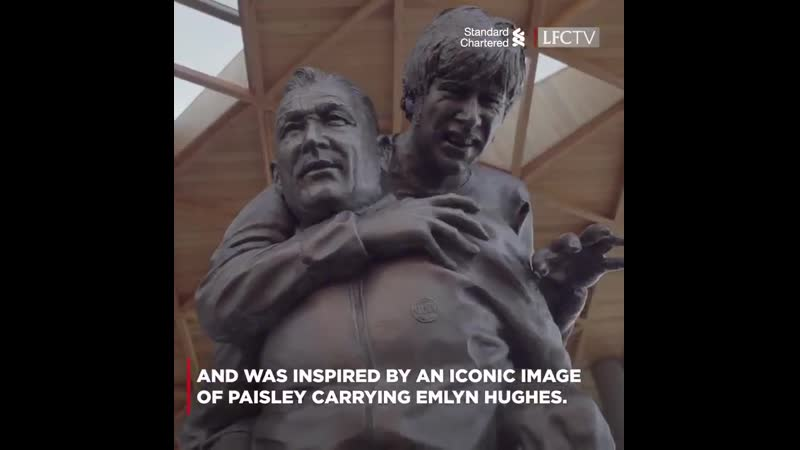 The moment the Bob Paisley statue was unveiled at Anfield