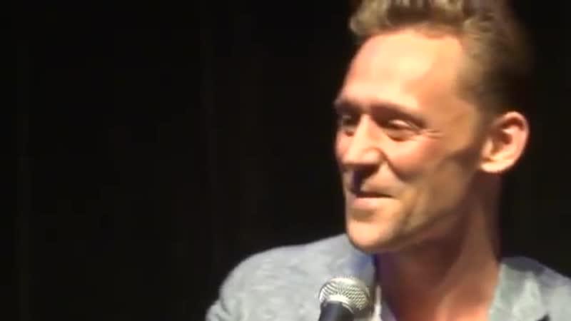 Tom Hiddleston being embarrassed