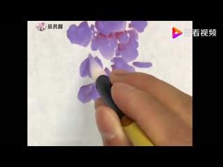Китайская живопись Гохуа. Рисуем Глицинию китайскую