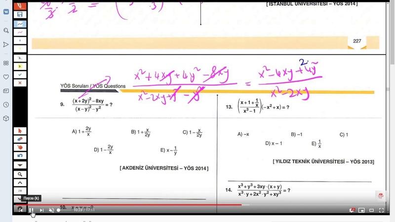 YÖS ЙОС Математика урок 26