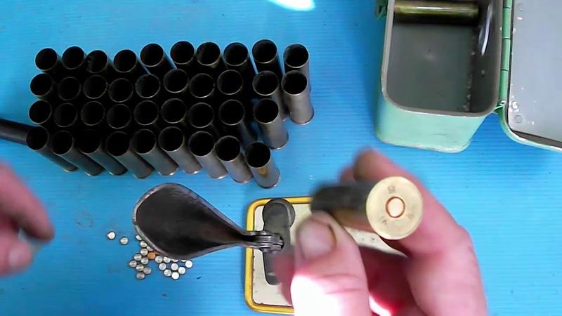 снаряжение латунных гильз 16 калибра
