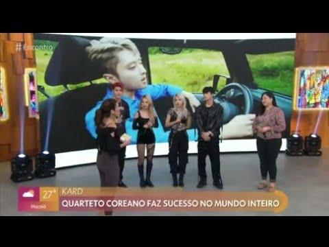 Encontro com Fátima Bernardes Quarteto coreano KARD faz sucesso! Vejam!