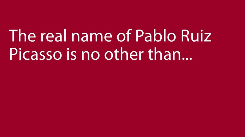 Pablo Picasso's Real Name