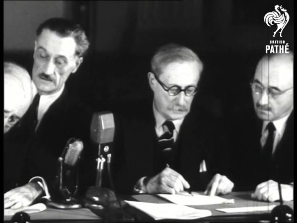 Signing Of French Loan Deal 1946