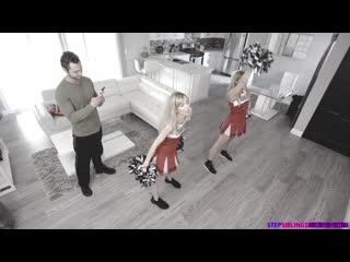 Mackenzie moss & nikki peach [all sex, threesome, ffm, blonde, hardcore, uniform, petite, swallow, handjob, pov]