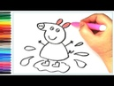 How to draw Peppa Pig | Coloring Books Art Colors for Kids |Mom draws