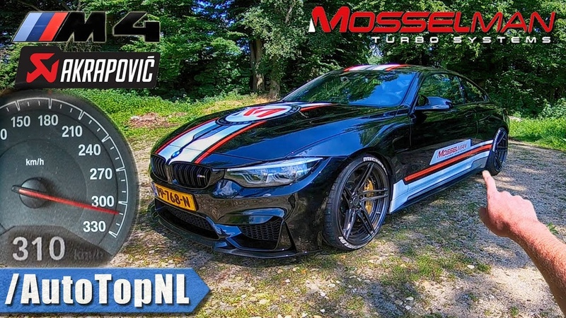620HP BMW M4 MOSSELMAN TURBO AKRAPOVIC 310km h REVIEW POV on AUTOBAHN ROAD by AutoTopNL