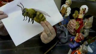 Васько Елена. Ватные игрушки. Пчела