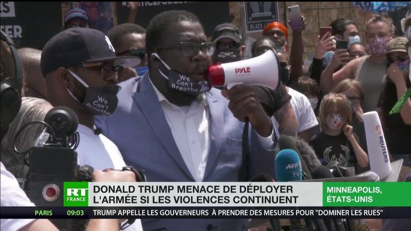Etats Unis Donald Trump menace de déployer l'armée si les violences continuent