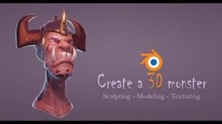 3D modeling - Create a monster with Blender - PBR material