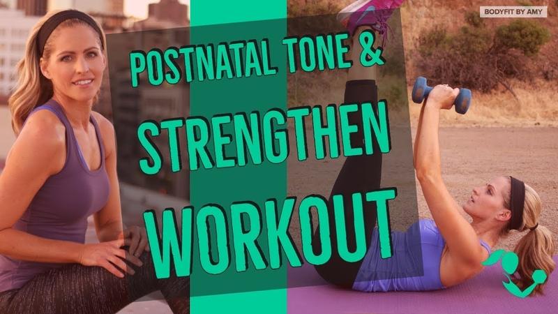 25 Minute Postnatal Tone Strengthen Full Body Workout for After Pregnancy