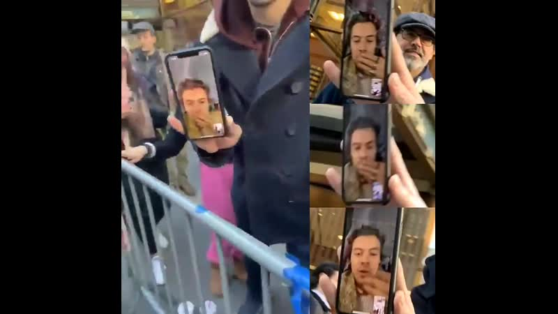Harry facetiming to fans